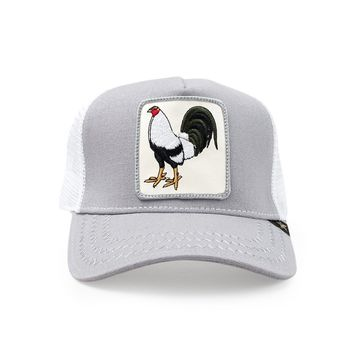 Trucker Hat -  Rooster Grey/White