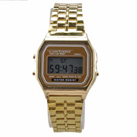 2016 Fashion Vintage Watch Electronic Digital Display Retro style Watch Gold Silver Watches