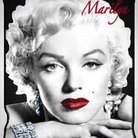 Marilyn Monroe Red Lips Fleece Blanket in Home & Dorm Pillows & Blankets
