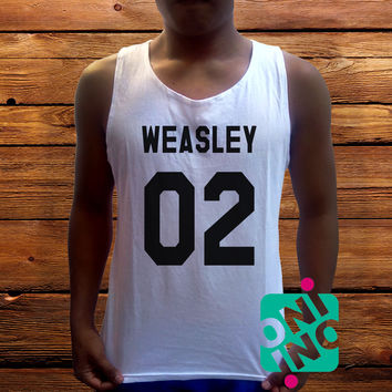 Ron Weasley Men's White Cotton Solid Tank Top