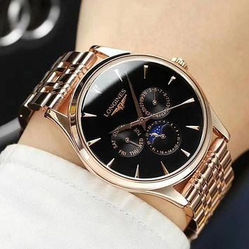 8DESS LONGINES Woman Men Fashion Quartz Movement Wristwatch Watch