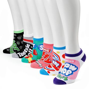 Assorted Candy 6-pk. No-Show Socks - Women, Size: One Size (Blue)