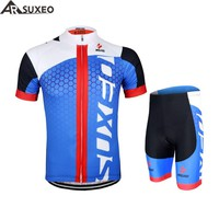 2017 ARSUXEO Mens Cycling Jersey Bike Bicycle Short Sleeves Jersey  Mountain Clothing MTB Jersey Shirts ZSS52