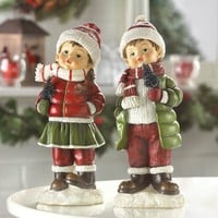 Holly & Noel Holiday Figurines Set