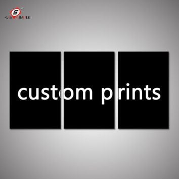 Custom Print 3 Piece Canvas Art Customized Your Own Photos Pictures Wedding Decorations Wall Art Canvas Printings Unframed