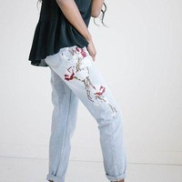 Tasia Embroidered Denim