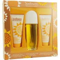 SUNFLOWERS by Elizabeth Arden EDT SPRAY 3.3 OZ & BODY LOTION 3.3 OZ & CREAM CLEANSER 3.3 OZ