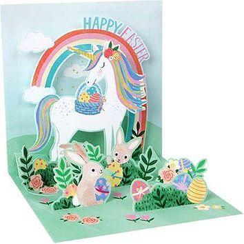 Easter Unicorn Pop-Up Card