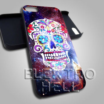 Galaxy Sugar Skull - iPhone 4/4s/5 Case - Samsung Galaxy S3/S4 Case - Black or White