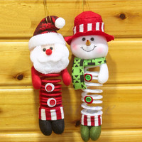 Christmas Santa Snowman Ornaments Pendant Xmas Tree Hanging Home Decoration Gift