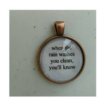 Fleetwood Mac Dreams lyric quote necklace