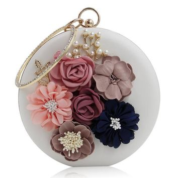 Women Evening Clutches Bags Ladies Flower Wedding Bag Day Purse