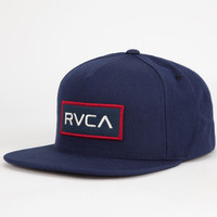 Rvca Rectangle Mens Snapback Hat Midnight Blue One Size For Men 26709425501