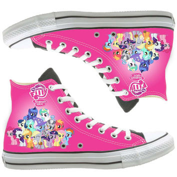 friendship magic painted shoes, custom shoes by natalshoes