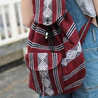 vintage 90s aztec boho hippy festival rucksack backpack  from cats got the cream