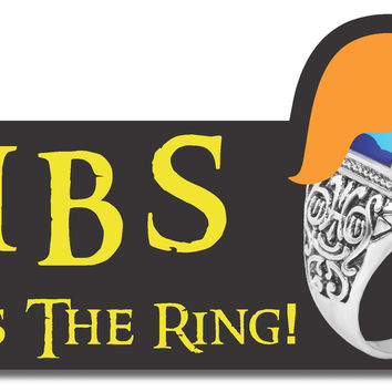 "Kiss The Ring Libs Trump USA 45 President 2016 sticker decal (8""x4.5"")"