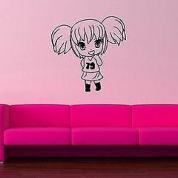 Wall Stickers Vinyl Decal Nursery Cheerleading Girl Anime Cartoon Kids Unique Gift ig1679
