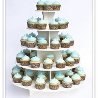 "The Smart Baker® 5 Tier Round Cupcake Tower Stand Holds 90+ Cupcakes ""As Seen on Shark Tank"""
