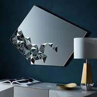 Faceted Wall Mirror - Diamond