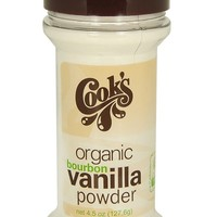 Cook's Organic Pure Bourbon Vanilla Powder, 4.5 oz