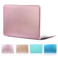 New Rose Gold Matte Metal Color Laptop Hard Case for Macbook Air 13 11 New Macbook Pro 13 15 With Retina Display Case Cover