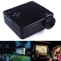 LightInTheBox® Mini HD Home Super Bright LED Technology Projector, PC Laptop VGA QVGA USB SD HDMI, Portable Home Theater Video Movie Office Prensentation Projectors (Black)