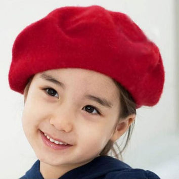 Practical Design Baby Girl Hats Fashion Casquette Beret Kids Girls Cap Berets Bailey Hat Dome Beret For Children free shipping