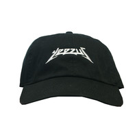 Rock Hard Vintage Yeezus Dad Hat In Black