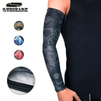 1Pcs UV Protection Running Cycling Arm Warmers Basketball Volleyball Arm Sleeves Bicycle Bike Arm Covers Golf Sports Elbow Pads