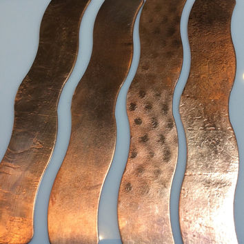 Copper Wave Bracelet Blanks