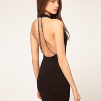 ASOS Bodycon Dress with Beaded Back Straps