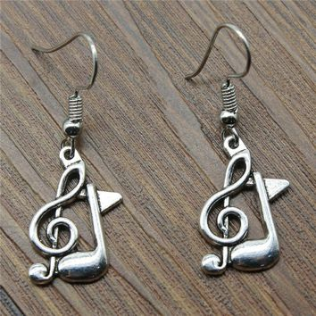 WYSIWYG Fashion Handmade Design Musical Note Charm Drop Earrings, Fashion Earring Jewelry Gift For Women Dropship Jewellery