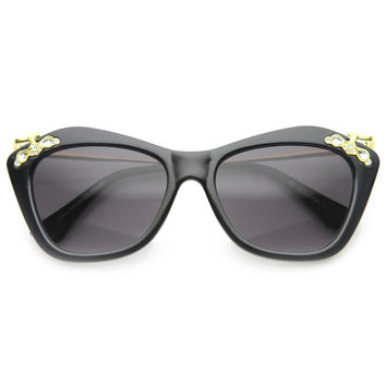 Women's Elegant Designer Cat Eye Jeweled Sunglasses 9759