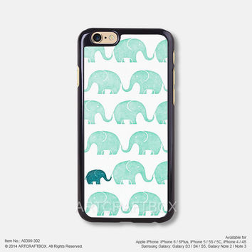 Light Green Elephant Free Shipping iPhone 6 6Plus case iPhone 5s case iPhone 5C case 399-302