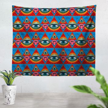 Deus Arcanum Eye Pattern Tapestry