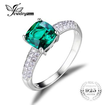 Sensational Emerald Solitaire Engagement Ring at SheShopper.com