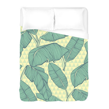 Seamless Palm Leaves Duvet Cover