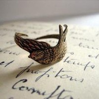 Soaring Sparrow Ring by TheDovesNest on Etsy
