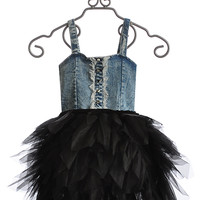 Ooh La La Couture Fancy Girls Dress in Denim