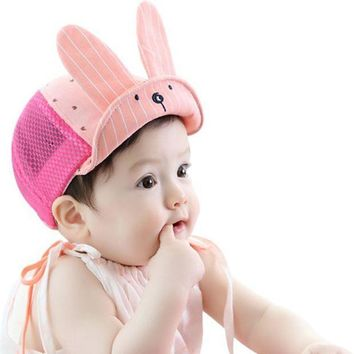 PEAP78W Summer Baby Girls Boys Toddler Kids Infant Sun Cotton Cap Cute Sun Beach Hat