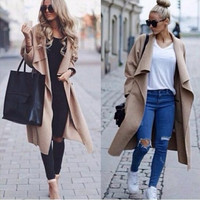 long sleeved loose cardigan women outwear outfit = 1929579332