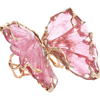 Pink Tourmaline Double Butterfly Ring