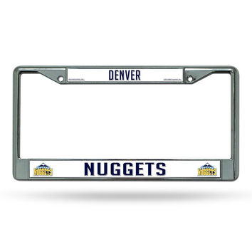 Denver Nuggets NBA Chrome License Plate Frame