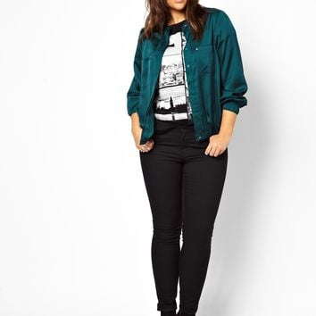 ASOS CURVE Exclusive Bomber Top