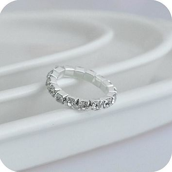 Pretty Re-sizeable Bling Stones Ring