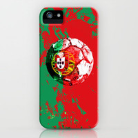 football Portugal  iPhone & iPod Case by seb mcnulty