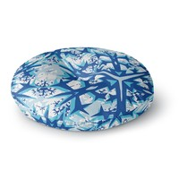"Miranda Mol ""Winter Mountains"" Round Floor Pillow"