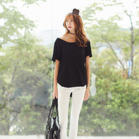 Solid Color Stretchable Pants