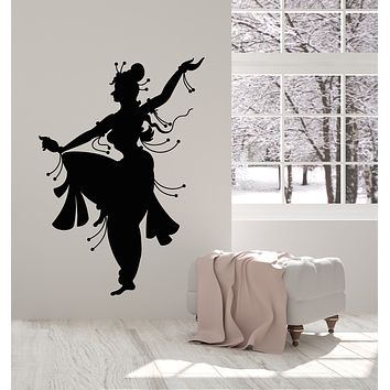 Vinyl Wall Decal India Indian Woman Dancer Belly Dance Dancing Stickers Mural (g2736)