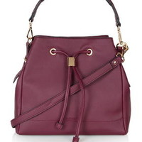 PU Duffle Bag - Burgundy